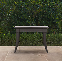 Klismos Square Side Table Painted Metal