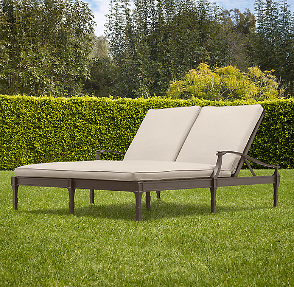 Antibes Double Chaise Painted Metal