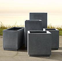Cube Sheet Metal Planters