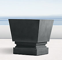 Pedestal Sheet Metal Cube Planter