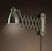Industrial Extending Scissor Sconce