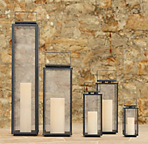 Amalfi Square Lanterns Weathered Zinc