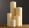 Large Ivory Pillar Candles