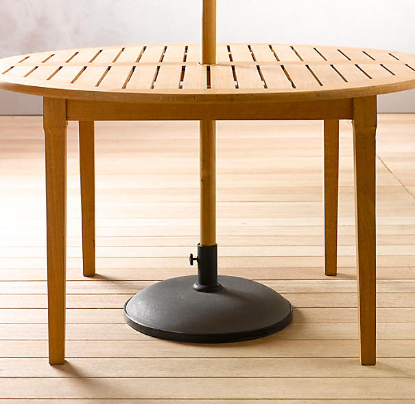 Concrete Dining Table Umbrella Stand