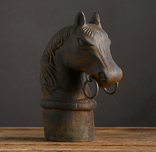 Cast Iron Hitching Post Horse