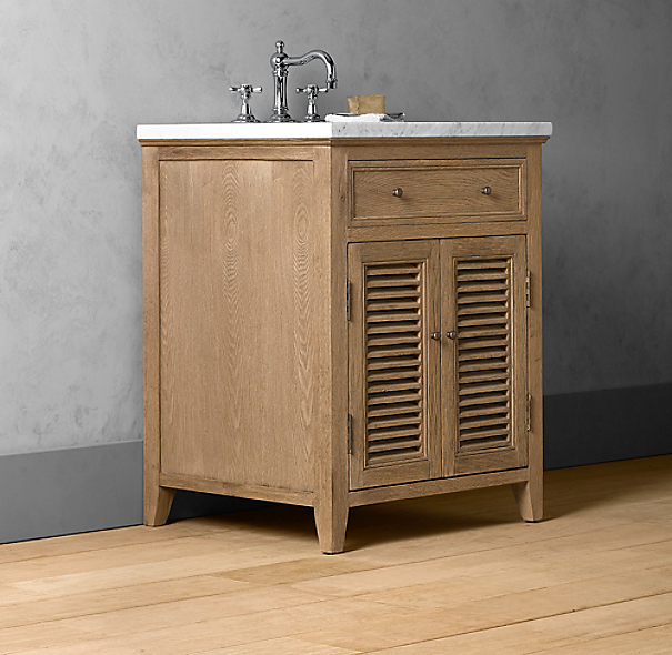 Shutter Powder Room Vanity Base