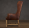 Belfort Wingback Leather Dining Chair
