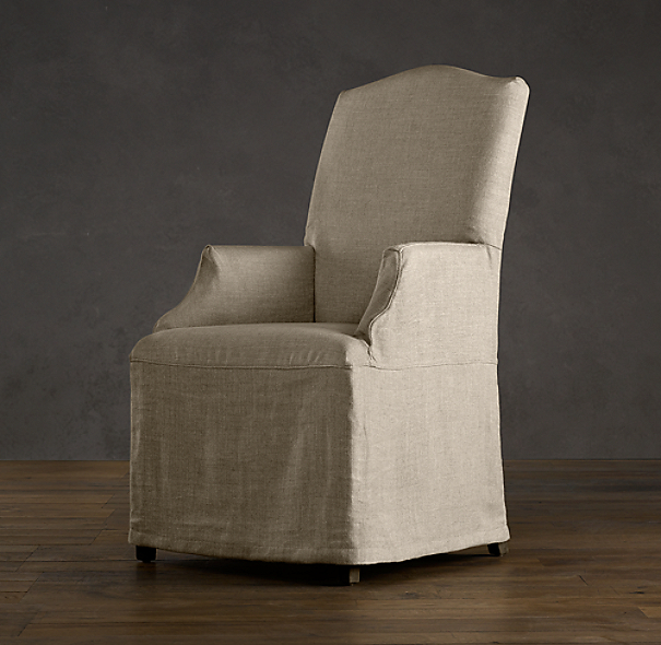 Hudson Camelback Slipcovered Armchair