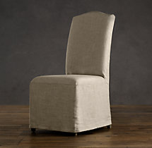 Hudson Camelback Slipcovered Side Chair