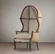 Versailles Burlap-Backed Chair