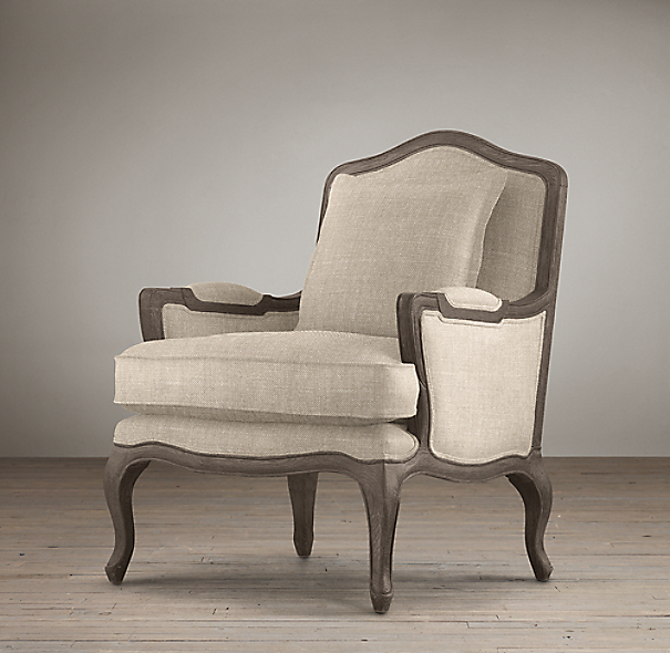Marseilles Chair With Burlap Back