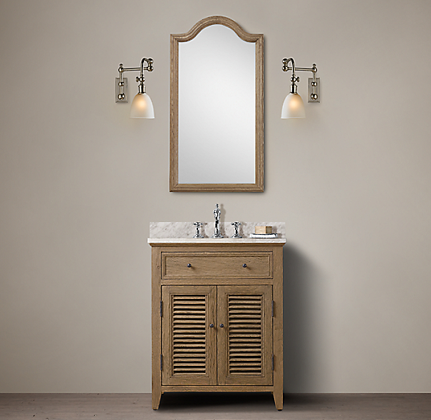 Shutter powder room vanity for Powder room bathroom vanities