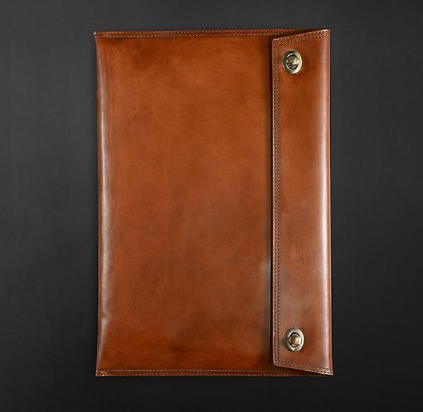 Artisan Leather Laptop Sleeve Chestnut
