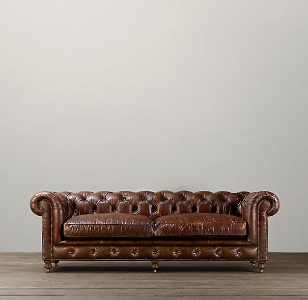 98 Quot Kensington Leather Sofa