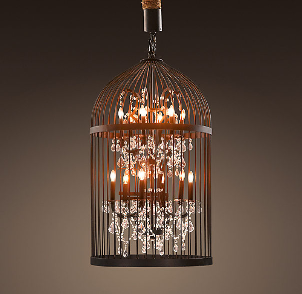 Vintage Birdcage Chandelier Medium
