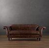 7' Regency Leather Sofa