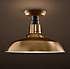 Vintage Barn Flushmount Antique Brass