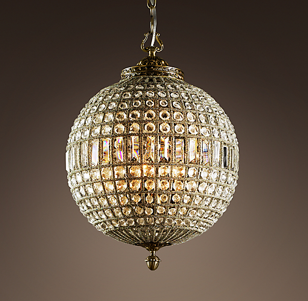 19th C. Casbah Crystal Chandelier 18""
