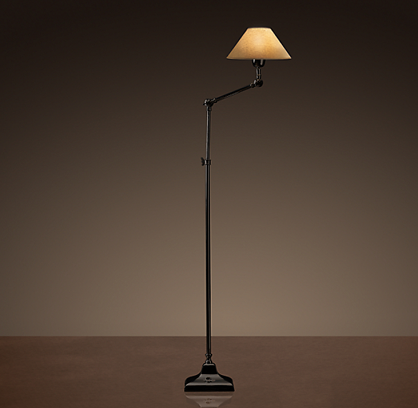 20th C. Parisian Telescoping Floor Lamp Bronze