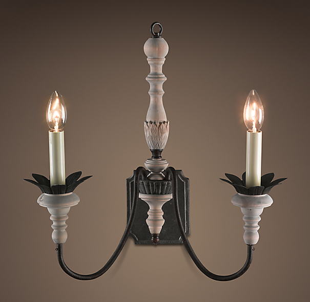 Parisian Wood & Zinc Sconce