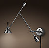 Counterpoise Swing-Arm Wall Sconce Polished Nickel