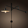 1940s Architect's Boom Medium Sconce Antique Black