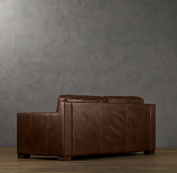 Collins Leather Sofas With Nailheads