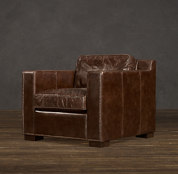 Restoration Hardware Leather Chair: Collins Leather Chair With Nailheads
