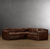Collins Leather Corner Sectional With Nailheads