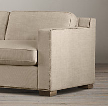 7' Collins Upholstered Sofa With Nailheads