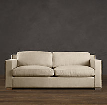 8' Collins Upholstered Sofa With Nailheads