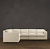 Collins Upholstered L-Sectional With Nailheads