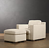 Collins Upholstered Ottoman With Nailheads