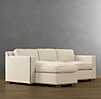 Collins Upholstered Left-Arm Sofa Chaise Sectional With Nailheads