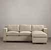 Collins Upholstered Sofa Chaise Sectionals With Nailheads