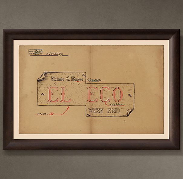 "El Eco Letrero (""The Echo Sign""), 1938"