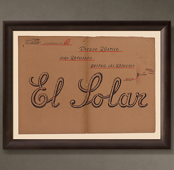 "El Solar Letrero (""The Ancestral Home Sign""), 1942"