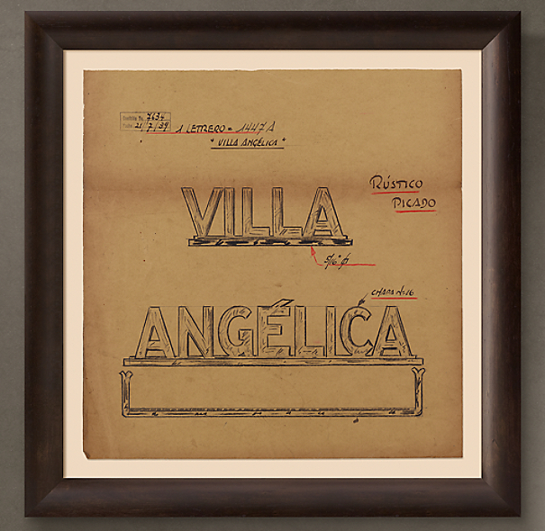 "Villa Angelica Letrero (""Villa Angelica Sign""), 1939"