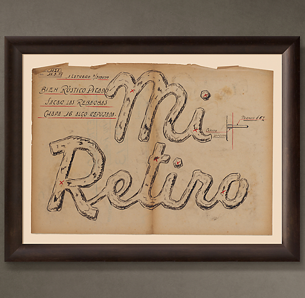 "Mi Retiro Letrero (""My Retreat Sign""), 1947"