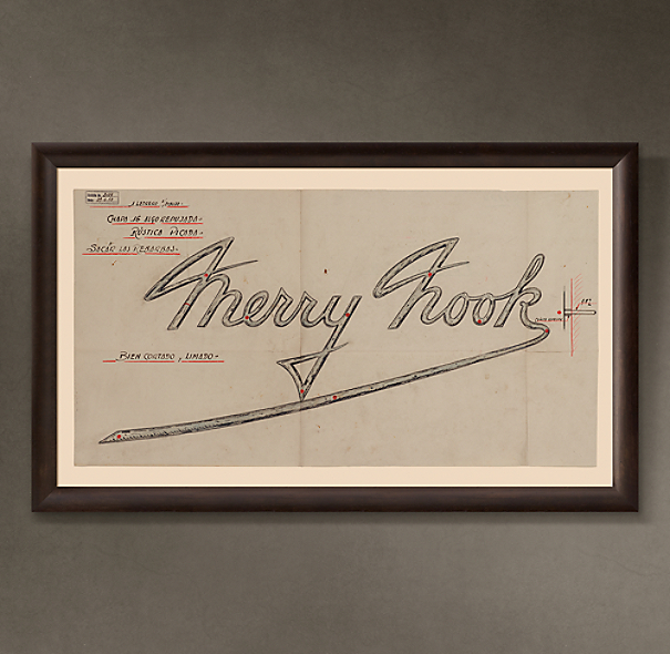 "Merry Hook Letrero (""Merry Hook Sign""), 1953"