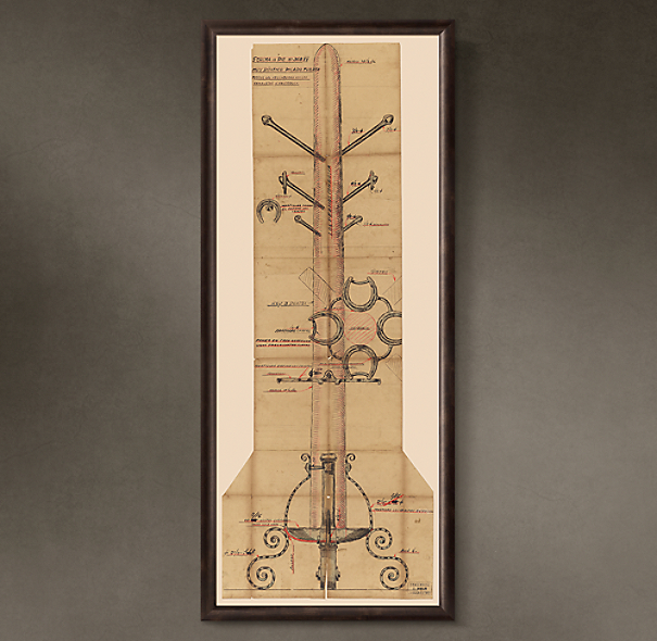 "Percha de Pie (""Floor Standing Coat Rack""), 1936"