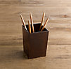 Artisan Leather Pencil Cup Chocolate