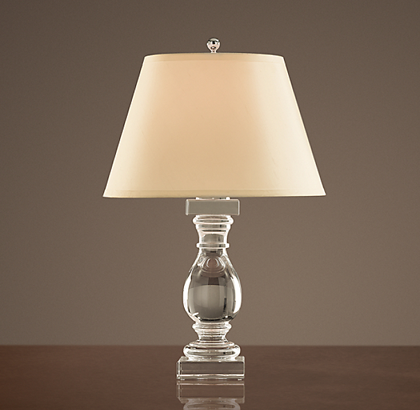 Crystal banister accent lamp - Restoration hardware lamps table ...
