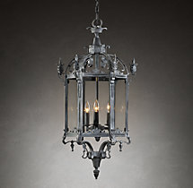 19th C. Salerno Streetlight Pendant Weathered Zinc