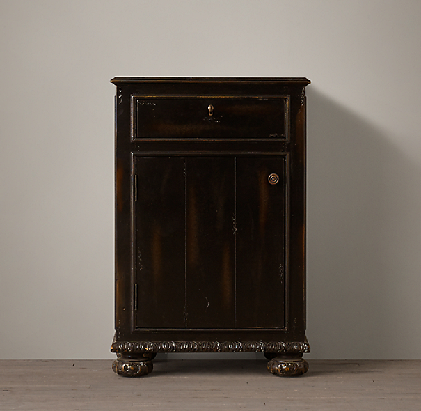 French Empire Short Bath Cabinet