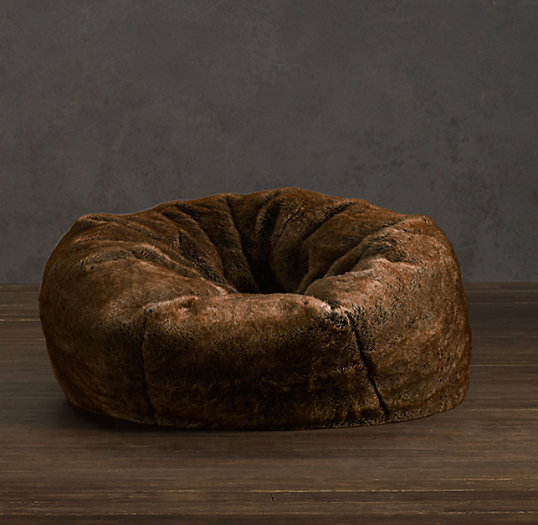 Grand Luxe Faux Fur Bean Bag Chair - Coyote