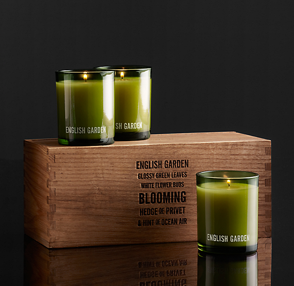 English Garden Filled Candles (Set of 3)