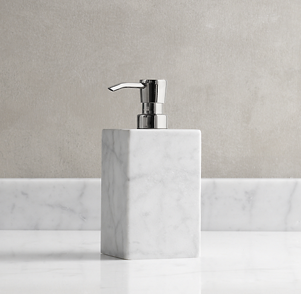 Carrara Marble Soap Dispenser