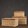 Seagrass Storage Boxes Natural
