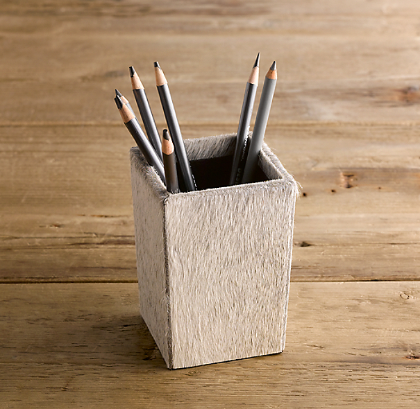 Hair-on Hide Pencil Cup